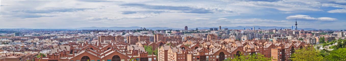 Madrid skyline panorama