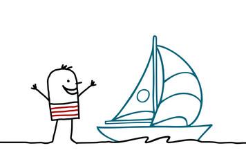 man & boat