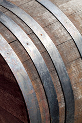古いワイン樽