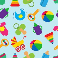 seamless pattern with children's accessories