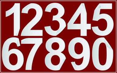 Paper numbers set