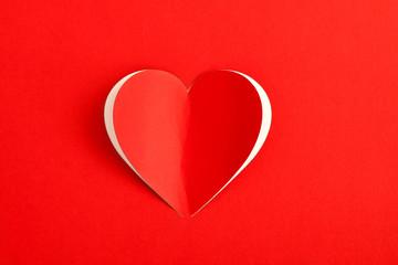 Red Heart Paper Sticker card