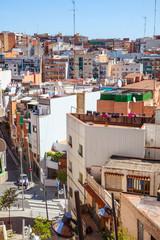 view of residence district in Badalona. Barcelona, Spain