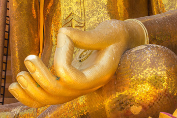 A view of Hand buddha statue Wat Tham Sua(Tiger Cave Temple)