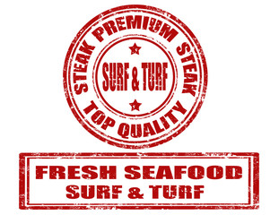 Surf & turf - stamps