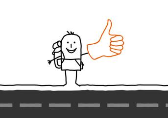 Wall Mural - hitchhiker