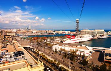 Port Vell  from Montjuic. Barcelona
