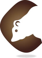 Logo, Bär, Braunbär, Tier, bear