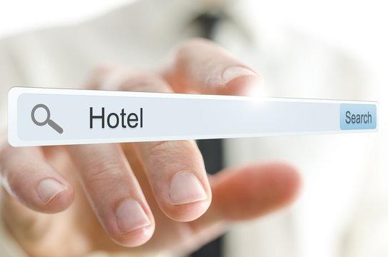 Word Hotel written in search bar
