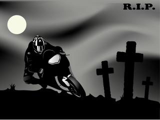 Wall Mural - Dead biker