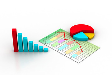 business graph, chart, diagram, bar