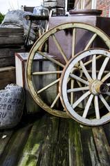 Vintage objects - wagon wheels