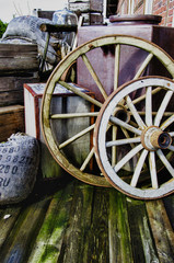 Vintage objects - Wagon wheels - HDR