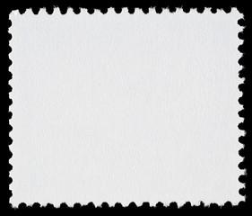 Blank Postage Stamp on Black Background