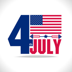 july 4, stylish american independence day design