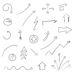 Vector Illustration of Hand-drawn Arrows
