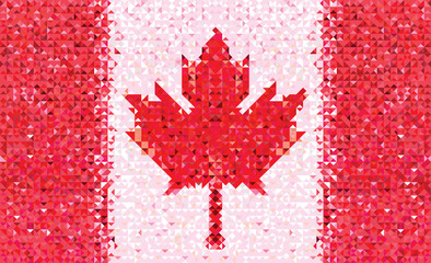 Flag Canada geometric pattern