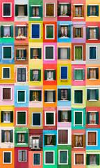 Burano windows, Italy