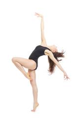 modern contemporary style woman ballet dancer