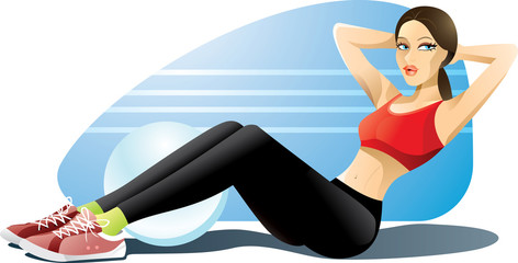 Woman Exercising Abs
