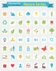 Flat Icons -- Nature Series