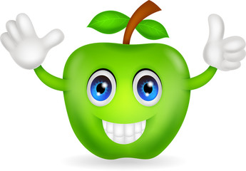 green apple cartoon