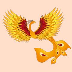 Phoenix with straighten wings.