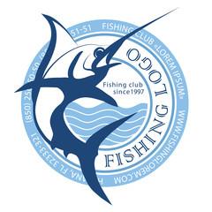 fishing logo, marlin logo