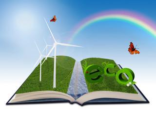 Environmental illustration for renewable energy