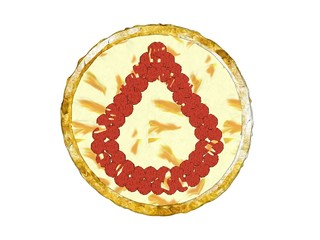 3D Pepperoni Pizza Golden Crust Top View Number Five Arabic