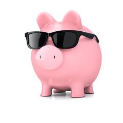 Sparschwein mit Sonnenbrille - Urlaubsgeld