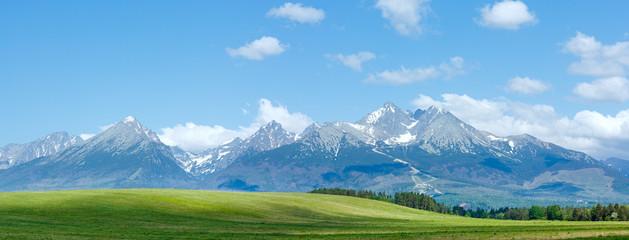 High Tatras (Slovakia) spring view.