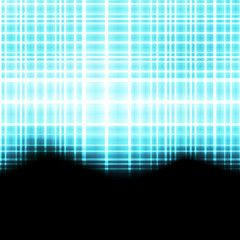 Abstract blue neon background vector template