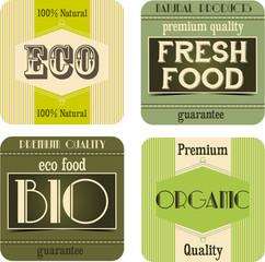 Vintage natural labels