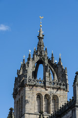 Detail of St. Giles Cathedral in Edinburgh, Scotland