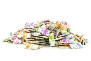 European pile of money