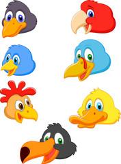 Bird head cartoon collection