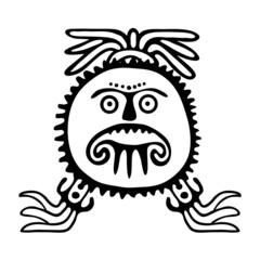 sun symbol, tattoo illustration
