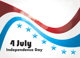 American Flag, Vector background for Independence Day. Illustrat