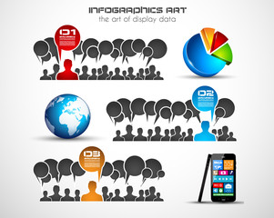 Infographics concept background art