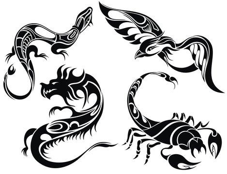 Tattoo design of animals