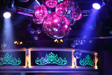 The part of interior of the nightclub