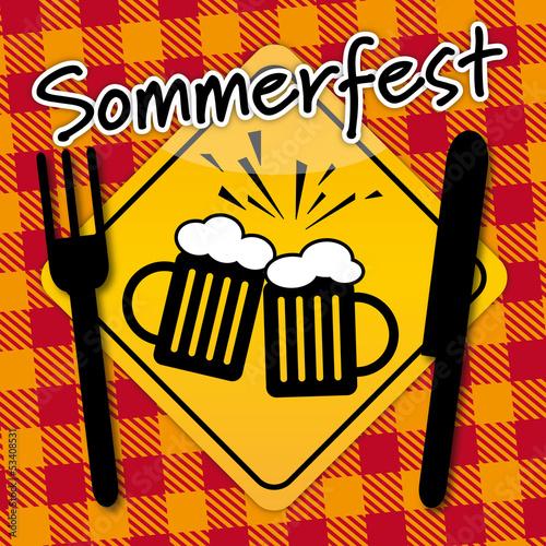 Sommerfest, Grillparty, Feiern, Einladung