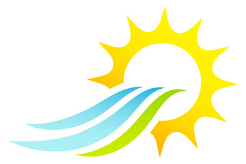 Sun & Waves Landscape Logo
