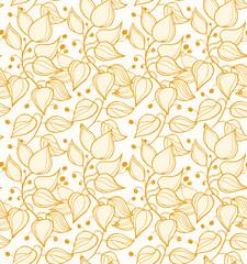 Floral seamless pattern. Decorative modern floral background