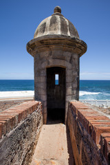 El Morro Fort Watch Tower in Old San Juan
