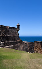 El Morro Fort Watch Tower in Old San Juan, PR