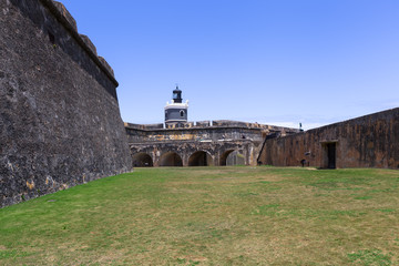 El Morro Fort and lighthouse in San Juan, Puerto Rico