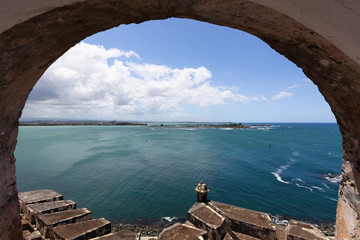 El Morro Fort Watch Tower  viewed through arch