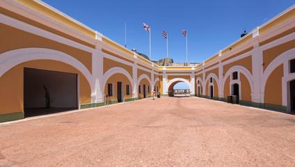 Vibrant interior of El Morro Fort